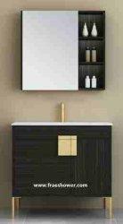 جديدة تصميم خشب رقائقيّ غرفة حمّام تفاهة