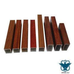 木目化粧仕上げアルミニウムルーフ天井 - アルミニウム押し出し長方形チューブ