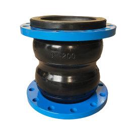 DIN ANSI BS GOST giunto di espansione in gomma con estremità flangiata PN10 PN16 con giunto di espansione in acciaio inox con raccordo filettato BSPT