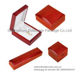 Fabricante de China la moda de la cereza de la mujer brillante Piano de acabado de laca Conjunto de joyas de Redwood cajas de embalaje