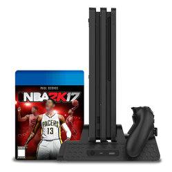 PS4/Slim/PRO를 위한 12마리의 게임 다기능 수직 냉각 대 관제사 충전기