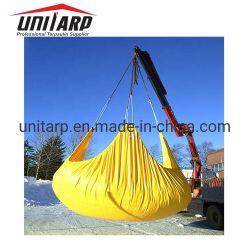 Reutilizable 22oz de poliéster recubierto de PVC PVC Construcción recubiertas de cuchilla extracción Eslingas nieve lonas