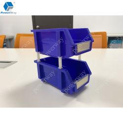 Workshop de fábrica Powerway Autopeças Caixas de armazenamento de plástico empilháveis