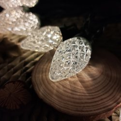 C7 다이아몬드 스트로베리 100L 쿨 화이트 미니 조명 장식 파티 크리스마스 PET LED 램프