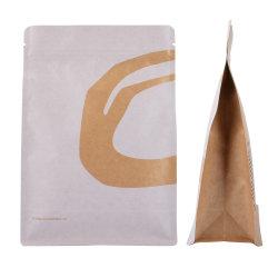 De douane drukte de Biologisch afbreekbare Plastic Verpakkende Zak van het Document van de Koffie van de Hoekplaat van de Bodem van de Ritssluiting van de Snack van de Noot van de Aluminiumfolie van de Verbinding van de Ritssluiting van de Rang van het Voedsel Vrije Vlakke Composteerbare af