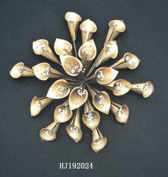 Dekorative Goldmetallblumen für Hauptdekor