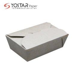 Livraison rapide qualifiés carton Kraft à emporter Boîte de papier de qualité alimentaire