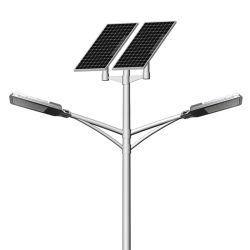 100 واط، 120 واط، 150 واط، إضاءة LED في الشارع الشمسي، ذراعان مزدوجَين مع أفضل سعر