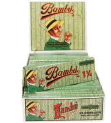 Bambu أوراق السجائر العضوية Hemp 1 1/4 24 CT OEM الشركة المصنعة للصين
