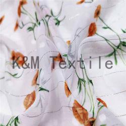 Imprimés de haute qualité 100 % polyester Tissu de polyester le sentiment de la soie