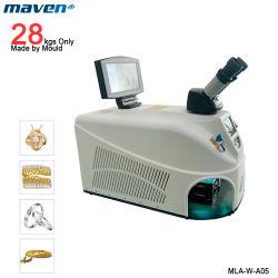 100W Nd YAG portátil mini microscopio CCD Joyas para máquinas de soldadura láser Dental de la cadena de oro y plata Punteadora de acero de China de fábrica de metal de soldadura