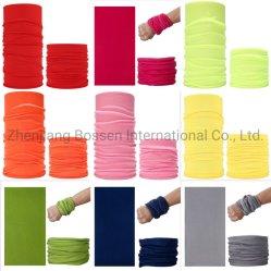 Colores disponibles multifuncional de microfibra poliéster Pañuelo cuello Mascarilla tubo fuelle bufanda