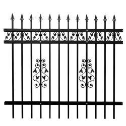 F006 jardín de aluminio Panel valla valla de acero de hierro forjado //Metal Galvanizado Picket Fence cerco patio/seguridad
