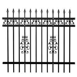 Aluminiumzaun-Panel-/Wrought-Eisen-Stahlzaun-/Galvanized-Metallpfosten-Zaun des garten-F006/Sicherheits-Yard-Zaun