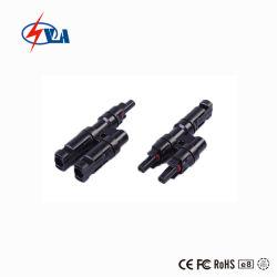 T 분지 Mc4 PV 연결관 2.5/4/6mm, 2는 출력된 1개, 1을 입력했다 출력된 2개, 태양 Mc4 케이블 연결관 30s 태양 케이블 연결관 광전지 연결관을 입력했다