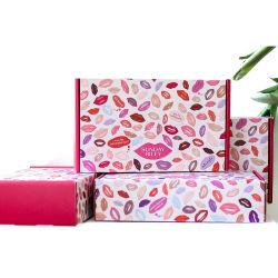 Оптовая торговля Custom двухсторонняя печать складывание одной стене гофрированный салон красоты макияж косметический картонной упаковке отправителя упаковки коробки бумаги