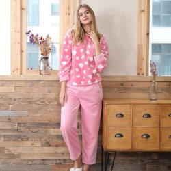 Reeks Homewear van de Polyester van de Winter van vrouwen de Zachte Fluweel Afgedrukte