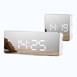 Smart großer USB-Akku LCD-Alarmtisch Digital Uhr