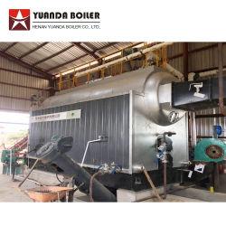 El tubo de agua industrial de 6 toneladas de arroz paddy virutas de madera biomasa dispararon caldera de vapor para la industria textil