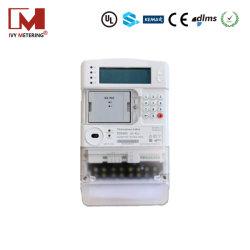 Instruments de compteur Anti-Tamper 3p4w Sts Compteur d'énergie électrique à puce prépayée