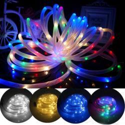 10m 100 LEDs 태양 LED 밧줄 관 끈 요전같은 빛은 옥외 정원 크리스마스 파티 장식 빛을 방수 처리한다