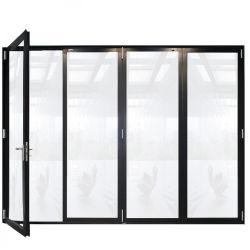 Het openlucht Franse Aluminium die van de Veranda de Britse van de Deuren van de Muur van de Vouwen van Bi Verticale bi-Vouwende Decoratieve Binnenlandse Deur Bifold vouwen van het Aluminium