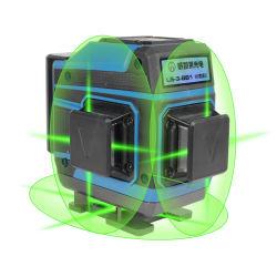 Nivelamento automático da 12 Linhas 3D Verde Nível Laser de Rotação Automática