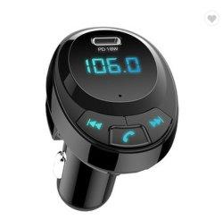 Carro 5.0 Bluetooth mãos livres sem fios do transmissor FM receptor de áudio MP3 Automática USB duplas Pd18W carregador rápido Kit para carro