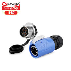 전기 잭 220V DC M20 전기 연결관 4 Pin