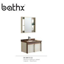 고품질 소형 벽걸이형 공간 알루미늄 백방수 캐비닛 베이슨 거울이 있는 욕실 캐비닛이 있는 화장대