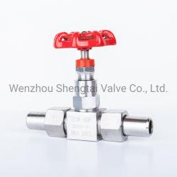 J23W-160P-DN15) da válvula de agulha soldadas de aço inoxidável de soldagem do Soquete da Válvula de Corte de Alta Pressão 304 rosca externa da União Europeia