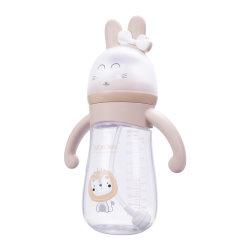 2021 beliebt 300ml Babys Milchflasche BPA frei PP umweltfreundlich Food Grade Custom Logo Silikon Nippel Säugling PP Fütterung Baby Flaschen