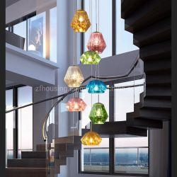 Moda acrílico moderno Multi Color Lustre Diamante LED Lâmpada pendurar o Macaron Iluminação pendente para o Bar de Vinhos e Restautant Zf-Cl-093