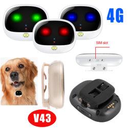 Batterie rechargeable de gros 4G Pet Tracker Dispositif de repérage GPS avec étanche IP67 V43