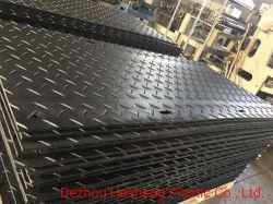 Ultra Hoog plastiek - Matten van de Toegang van de Weg van de Bouw van het Blad van het Polyethyleen van het Moleculegewicht (UHMWPE) de Tijdelijke/Comité