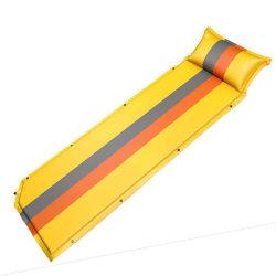 초경량 접이식 폼 매트리스 자가 팽창식 수면 매트 및 베개가 있는 매트리스 캠핑