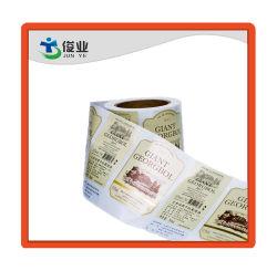 Botella de Vino Tinto personalizada Etiqueta de lámina de oro/etiqueta de papel