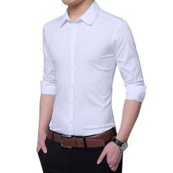 人のためのライトそして薄く純粋で形式的で長い袖のワイシャツ