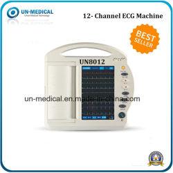 ECG-8012 digital portátil de 12 canales con pantalla táctil de la máquina de ECG de 12 derivaciones