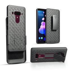 ベルトクリップホルスター及び回るKickstandのコンボの程度180旋回装置を+ HTC U12+のための耐震性の保護ケースロックする