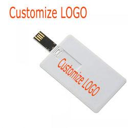 신용 카드 USB 섬광 드라이브에 의하여 주문을 받아서 만들어지는 펜 드라이브 128MB 로고 사진 디자인