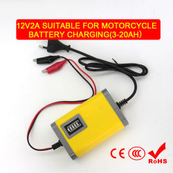 Lader 12V 2A Battery Charger Suitable voor Motorcycle Battery met Ce Certificate