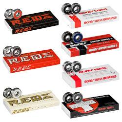 Красные швейцарских керамические роликовой доске подшипников 8 Pack Longboard колеса с подшипниками 608