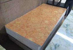 Les UV haute brillance feuille pvc imitation marbre pour la décoration intérieure