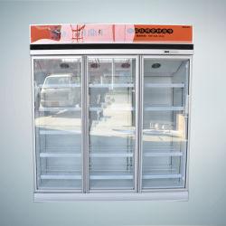 Libre de heladas de equipos de refrigeración verticales Alimentación vino cerveza de la pantalla fría nevera
