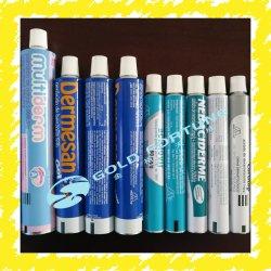 Medicina ungüento de Paquete de tubo de Productos Farmacéuticos Paquete de tubo plegable de aluminio para la infección de la piel/D28mm 135ml con tapón de rosca de plástico