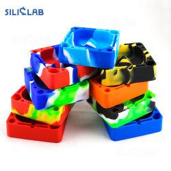 De multifunctionele Vierkante Asbakje Gekleurde Kop van de Rook van de anti-Schok van het Asbakje van het Silicone voor het Roken