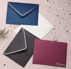 Четыре цвета Спасибо горячей штамповки высокого качества для бумажника Конверт DL мягкий обволакивают бумажные деньги