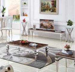 Mesa de comedor mesa de café de mármol de estilo nórdico hogar Metal mobiliario de hierro forjado grandes Golden Square esquina moderna mesa lateral
