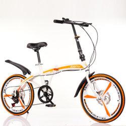 20인치 가변 속도 이중 디스크 브레이크 접이식 자전거 성인 Alloy 원휠 로드 산악 자전거 타는 야외